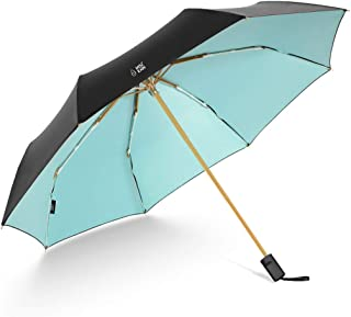 Women's Sun Protection UV Umbrellas Rain and Rain Umbrellas Ultralight Portable Folding Umbrellas Blue, Green, Pink Optional HYBKY (Color : Green)