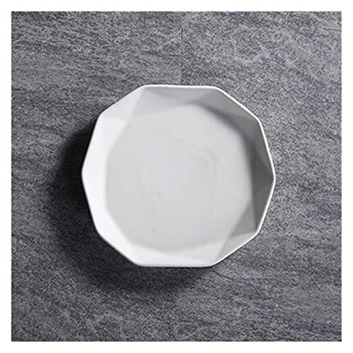 YSYSPUJ Plato de Cena Nórdico Irregular cerámica Placa de Cena sólido glaseado Porcelana Pizza Placa Desayuno Fruta Postre Bandeja Pastel Platos Platos Platos
