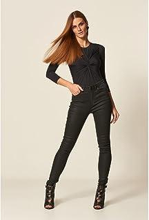 Calça Jeans Black E Resinado Skinny
