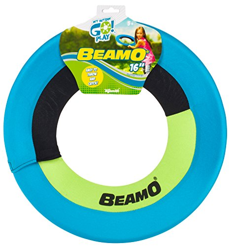 Toysmith Get Outside GO Mini Beamo Flying Hoop 16Inch Colors may vary