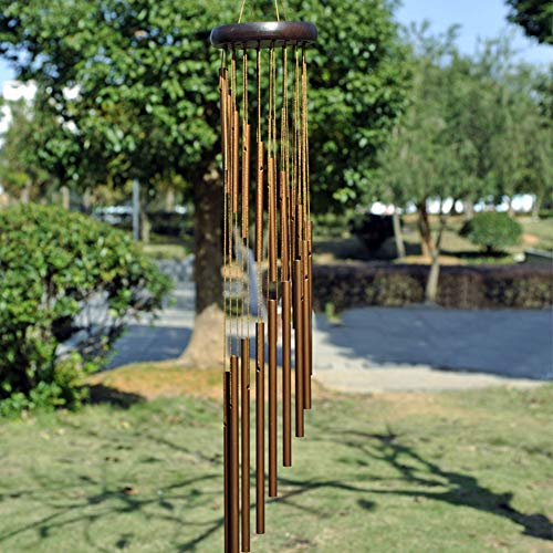 Egurs Wind Chimes, Sonnette Musicale apaisante en métal Tubulaire pour Balcon de Jardin et décor intérieur, Or