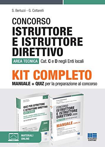 Kit completo Concorso Istruttore e Istruttore Direttivo Area Tecnica. Manuale + Quiz per la preparazione al concorso
