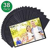 Tebik 38 Pack Magnetic Picture Frames, Holds 4 x 6 Inches Photos Pictures, Black Magnetic Photo Frames with Clear Pocket for Refrigerator,Fridge, Locker, Office Cabinet