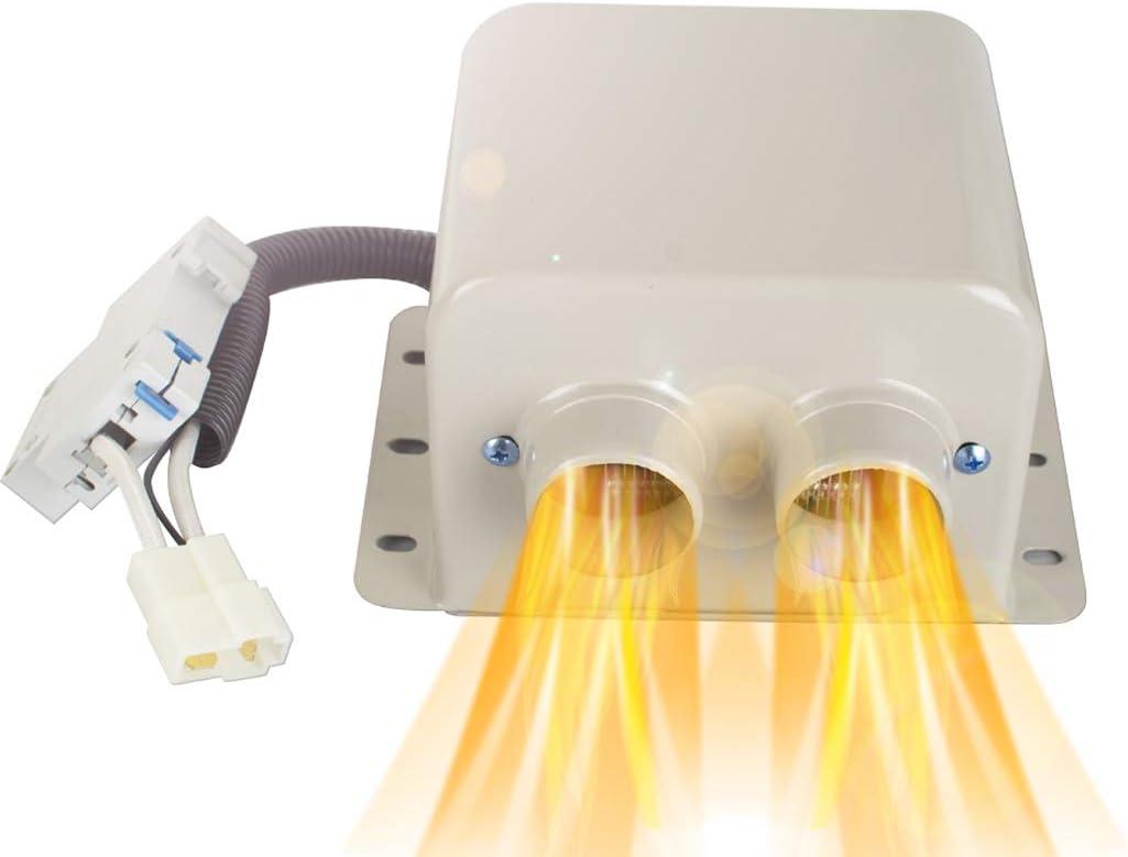 Car Free shipping Heater,ixaer Tulsa Mall 12V 800W 2 Fan Heate Outlets Portable Air