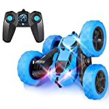 Remote Control Car, RC Cars Stunt Car Toy, 4WD 2.4Ghz Double Sided 360° Rotating RC Car with Headlights, Kids Xmas Toy Cars for Boys/Girls