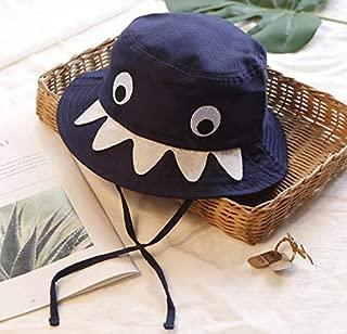 Astra Gourmet Sun Bucket Hats for Kids Boys Girls - Shark Design Sun Protection Hats Wide Brim Summer Play Hats Blue