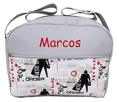 Maxi bolso para carrito de bebé BORDADA CON EL NOMBRE del bebé. Varios modelos y colores disponibles. (Star Wars)