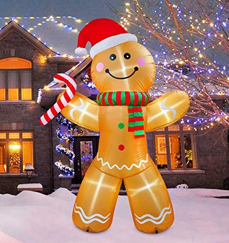 JF deco 1,8 m Decorazioni gonfiabili di Natale, 7...