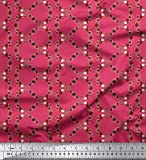 Soimoi Pink Heavy Canvas Stoff Anemone & Roses Floral