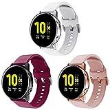 kitway Correa de reloj compatible con Samsung Galaxy Watch Active/Active 2 (40 mm/44 mm)/Galaxy Watch 3 41 mm, 20 mm, correas de repuesto para Samsung Galaxy Watch Active 42 mm