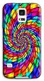 Mixroom–Coque Étui case en TPU silicone souple pour Samsung Galaxy S5Neo G903F m493fond spirale multicolore
