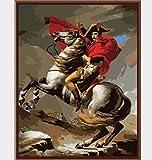 HNZYFDIYデジタル油絵手描き油絵リビングルームの寝室の装飾絵画ナポレオン40x50cmフレームレス