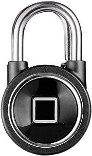 Negro TOOGOO Candado De Huella Digital Sin Llave Inteligente Usb Recargable Ip65 Impermeable Anti-Robo Candado De Seguridad Cerradura De Maletero Para Puerta