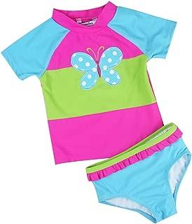 Baby Toddler Girl Swimsuit Set Kid Girl Two Pieces Swimwear Rash Guard