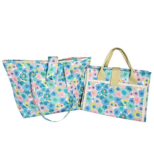 Bolsa sacola de lona com esteira azul Maria Adna