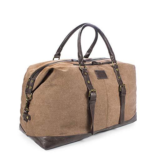 2 en 1 bolsa de ropa y Duffle Overnight Bag Bolsa de tela impermeable de gran tamaño de la lona del recorrido del equipaje gimnasio de deportes for el bolso de hombro de los hombres Las mujeres viajan