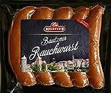 Echte Rauchwurst Buchenholz geräuchert | herzhafte Bautzner Wurst Delikatesse für BBQ Grill und Pfanne | 5 x 100g