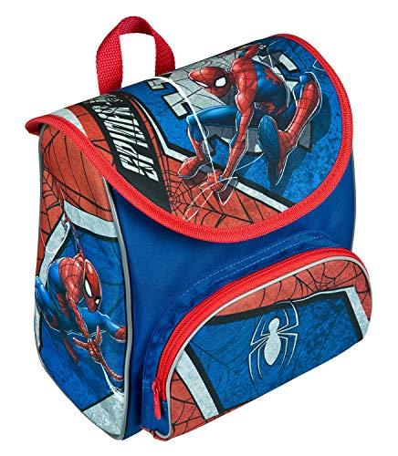 Scooli Vorschulranzen Cutie mit Klettverschluss und Brustgurt, Marvels Spider-Man, ergonomisch, leicht, ca. 5 Liter, blau, 22x23x16 cm