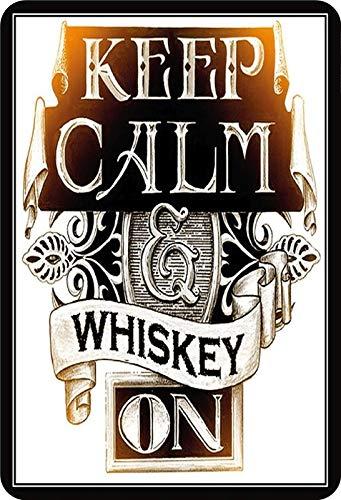 Metalen bord Keep Calm & Whisky on