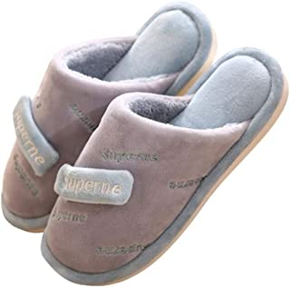 Women's Cotton Memory Foam Slippers Anti Skid Indoor/Outdoor Slip-on House Shoes