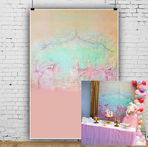 AOFOTO 6x8ft Abstract Ballerinas in Tutu Dresses Dancing Background Party Decoration Photography Backdrop Kid Baby Girl Artistic Portrait Birthday Photo Studio Props Video Drape Wallpaper