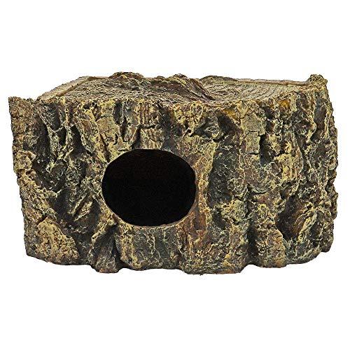 Hobby Eckhöhle Bark Höhle für Reptilien und Amphibien, 21 x 15 x 11 cm
