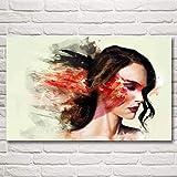 N / A Rahmenlose Malerei Abstrakter Schauspieler schwarzer Schwan Frauen Kunst Seide Poster Home Dekoration Bild48X76cm