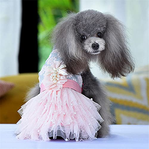 ZNZT Ropa para Perros Vestido De Novia De Verano para Perro Disfraz para Niña Ropa para Mascotas Schnauzer De Pomerania Halloween.