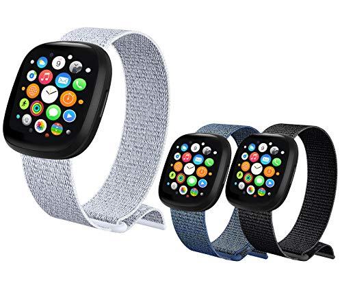 Nylon Cinturino Orologio per Apple Watch Cinturino 38mm 40mm 42mm 44mm,【3 Pezzi 】 Cinturini di Ricambio per Apple Watch iWatch SE Series 6 5 4 3 2 1 (38/40MM)