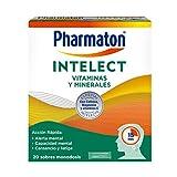 Pharmaton Intelect Vitaminas y Minerales - 20 sobres monodosis - Contribuye a la alerta mental, a reducir el cansancio y la fatiga
