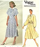 Vogue 1375 Vintage 1980's Sewing Pattern  Albert Nipon  Misses Dress - Size 12 Check Offers for Size