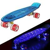 57cm Mini Cruiser Retro Skateboard Komplettboard Vintage Skate Board mit