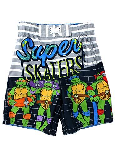 TMNT Ninja Turtles Boys Swimwear (2T, Grey Swim Trunks)