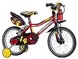 Monopoli 14 Zoll 21 cm Jungen Felgenbremse Rot/Gelb