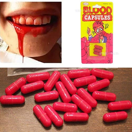 Red Blood Capsules 6ct Halloween