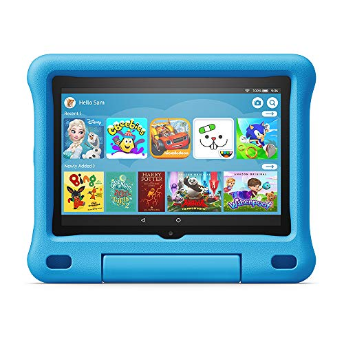 Kid-Proof Case for Fire HD 8 tablet | Compatible with 10th generation tablet (2020 release), Blue