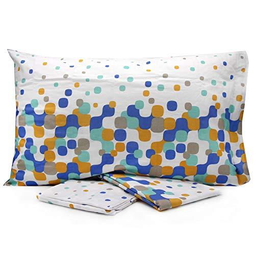 Lovetessile Bettwäscheset für Einzelbett, französisches Bett, Doppelbett mit mehreren Motiven über dem Kissenbezug – Variante 1, Einzelbett Taglia unica Variante 69