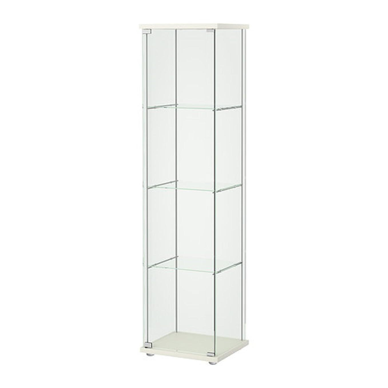 自分を引き上げる繰り返したマンモスIKEA/イケア DETOLF/デトルフ ガラス扉キャビネット43x163 cm ホワイト 203.540.43