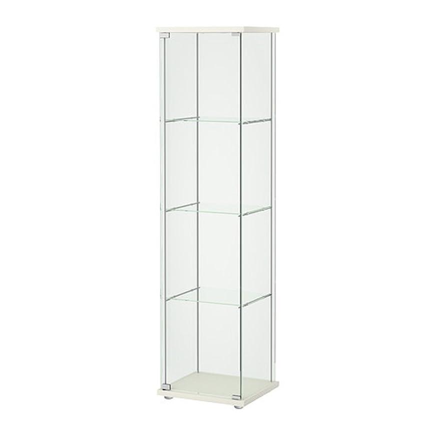 ピアース間違っているであることIKEA/イケア DETOLF/デトルフ ガラス扉キャビネット43x163 cm ホワイト 203.540.43