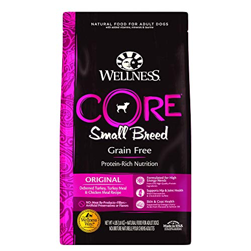 Wellness CORE Natural Grain Free Dry Dog Food, Small Breed, 4-Pound Bag