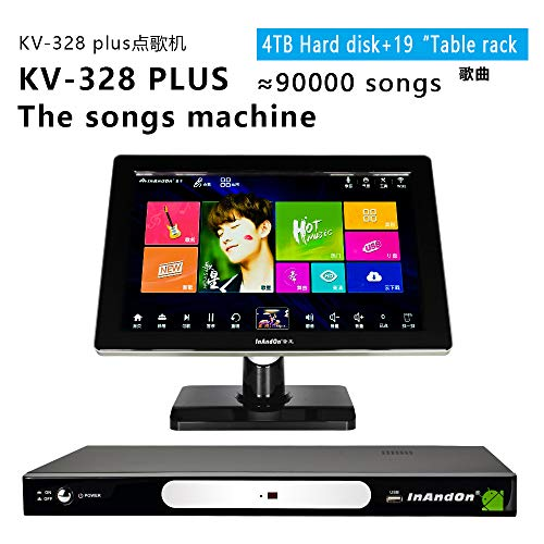 New InAndon karaoke player KV-328 PLUS (Black single host + 19 inch touch screen, 4TB(9,2000 Songs...
