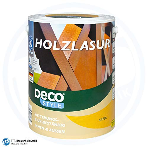 Deco Style Holzlasur 5 Liter Holz Lasur Kiefer Seidenglänzend