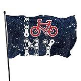 shenhaimojing Yo Amo Mi Bicicleta 3X5Ft,Bandera Brisa,Banderas De Jardín,Bandera De La Familia,Inicio Decorativo Al Aire Libre