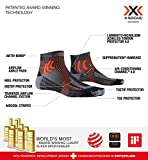 X-Socks Marathon Retina Calcetines Deportivos Calcetines Para Correr Hombre Mujer Socks Calcetines, Unisex adulto, Stone Grey Melange / X-Orange, 39/41