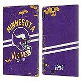 Head Case Designs Licenciado Oficialmente NFL Casco Distressed Look 100th Minnesota Vikings Logo Art...