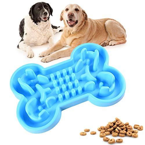 BEANKI Fressnäpfe für Hunde, Hundenapf Interaktiver Futternapf, langsame Fütterung Hundenapf, Rutschfesten Silikon, Verlangsamen Fütterung Verhindern Fettleibigkeit, Stimulieren Sie die Intelligenz