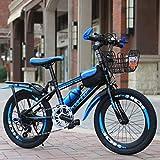 Longteng Bicicletas Infantiles Variable Speed Bike Balance De Bicicletas For Niños Y Niñas, De 20 Pulgadas, Al Aire Libre En Bicicleta, Frenos Dobles, 8-10 Años De Edad (Color : Azul)