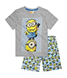 Pijama de manga corta con licencia oficial de DespICABLE ME Minions para nios y nias de 3 a 10 aos Diseo 1 128