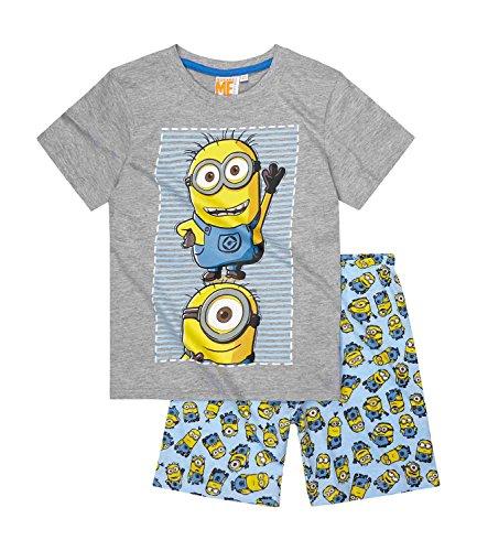 Pijama de manga corta con licencia oficial de DespICABLE ME Minions para niños y niñas de 3 a 10 años Diseño 1 128