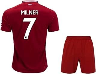 ZXAOYUAN Milner #7 Men's Home Soccer Jersey & Short Kit Red
